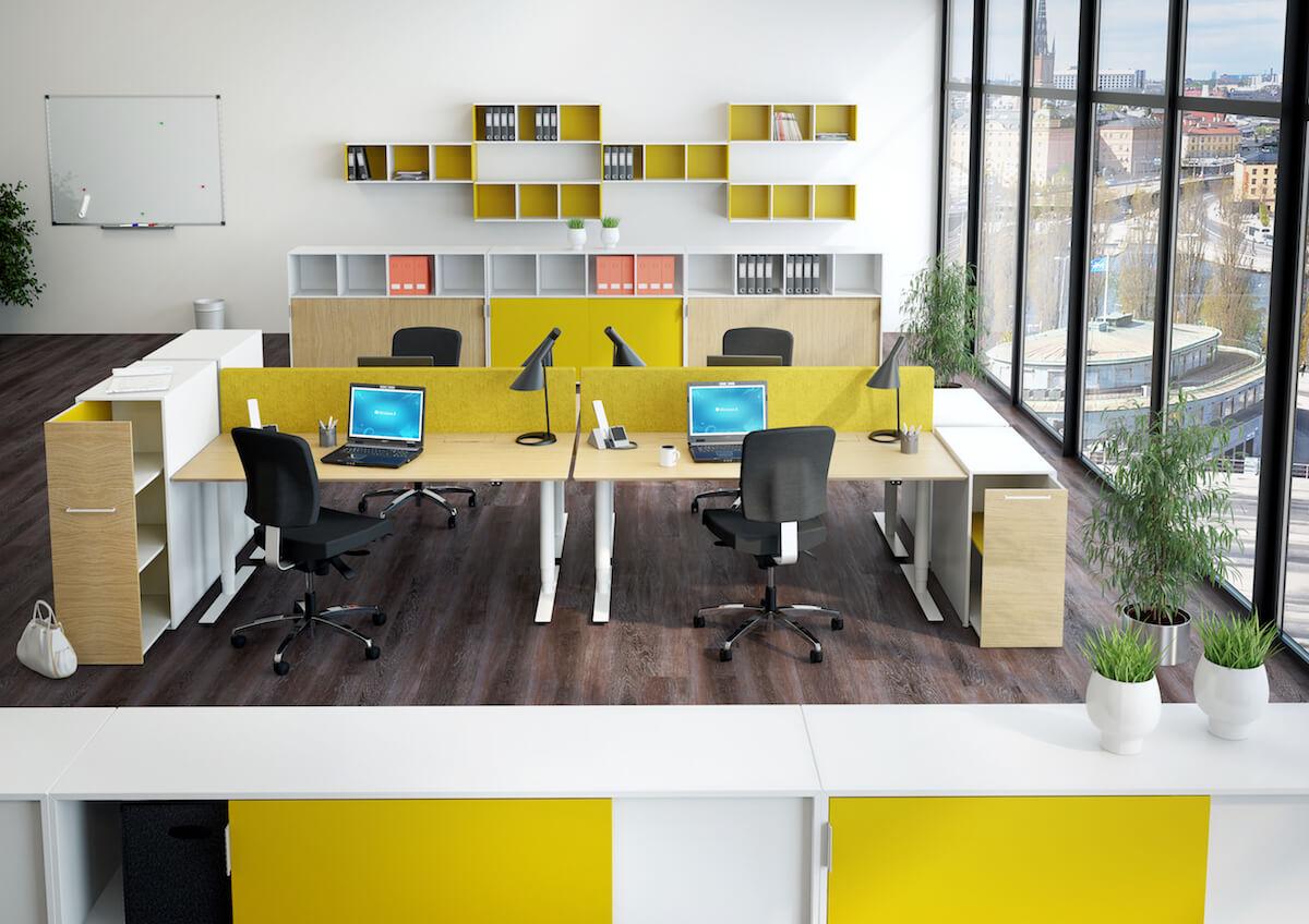 åben Kontorindretning Med Dencon Møbler