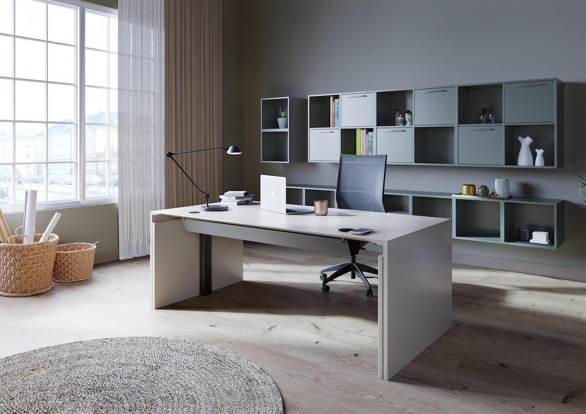Moderne Kontor Med Dencon Gavlbord Og åbne Reoler